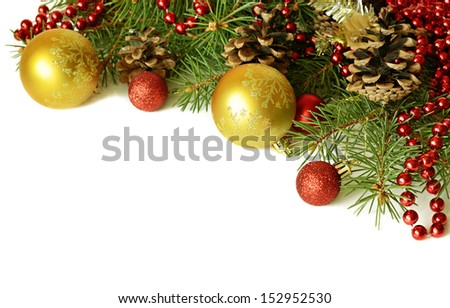 New year decorations in red and yellow colors