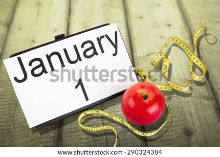 New, year, diet. - stock photo