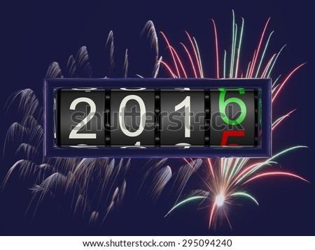 New Year 2016 e - stock photo