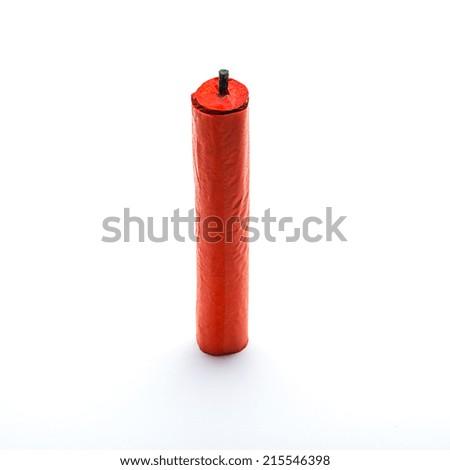 new year firecracker china firecrackers - stock photo