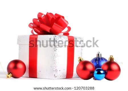 New year gift box - stock photo