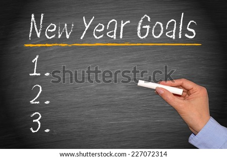 New Year Goals - stock photo