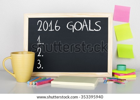 New Year Goals For 2016 Concept - stock photo