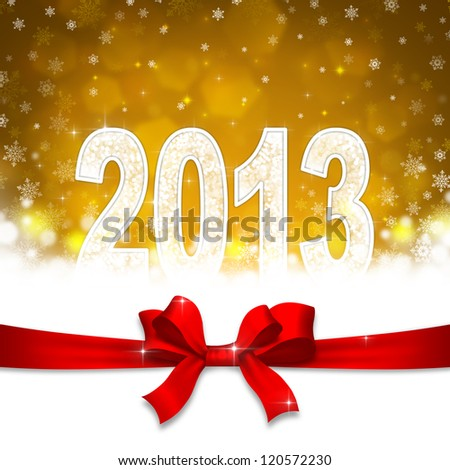 New 2013 year greeting card - stock photo