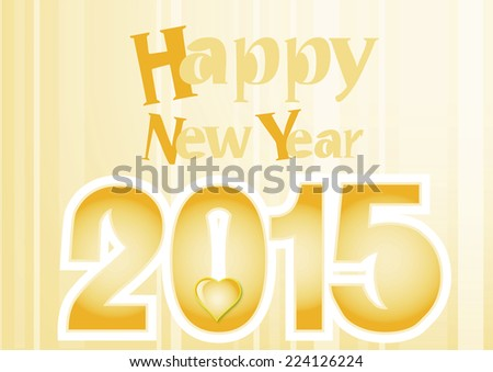 New 2015 year greeting card - stock photo