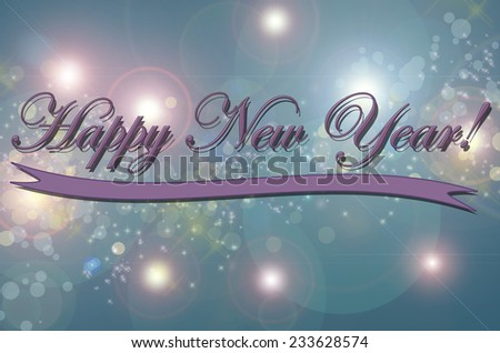 New year greeting card made in vintage style - stock photo