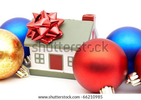 new year House - stock photo