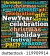New year info-text graphics and arrangement concept on white background (word cloud) - stock photo