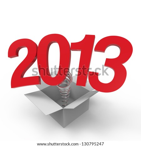 New year 2013 isolated on white background.
