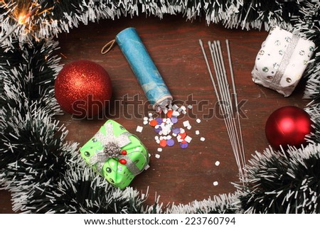 new year items - stock photo