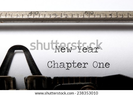 New year, new start concept  - stock photo