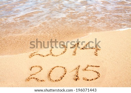 New year 2015 on the beach.