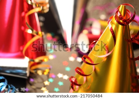 New year party decoration,Closeup. - stock photo