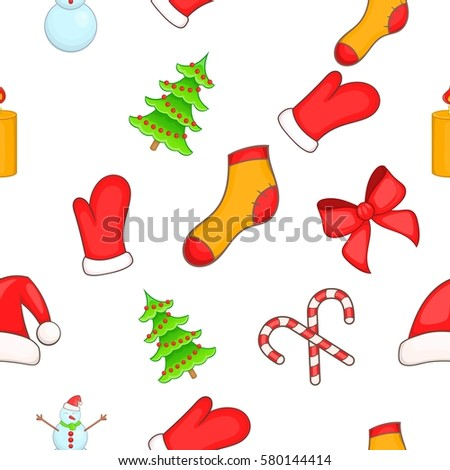 New year pattern. Cartoon illustration of new year  pattern for web