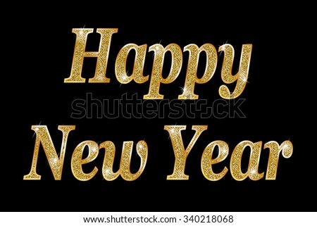 New Year. Raster version  - stock photo
