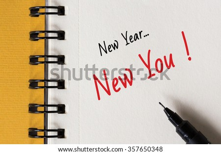 New Year Resolution, New Year... New You ! - stock photo