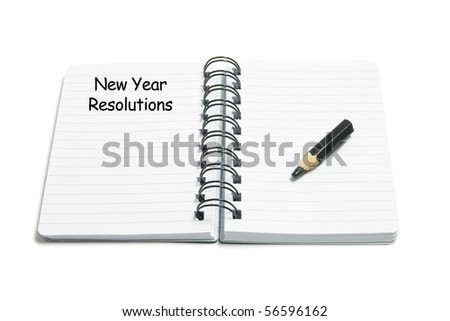 New Year Resolutions on White Background