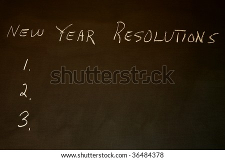 New Year Resolutions with copy space to personalize - stock photo