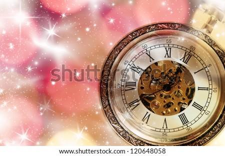 New Year's at midnight - stock photo
