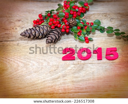 New Year's decoration 2015 - stock photo