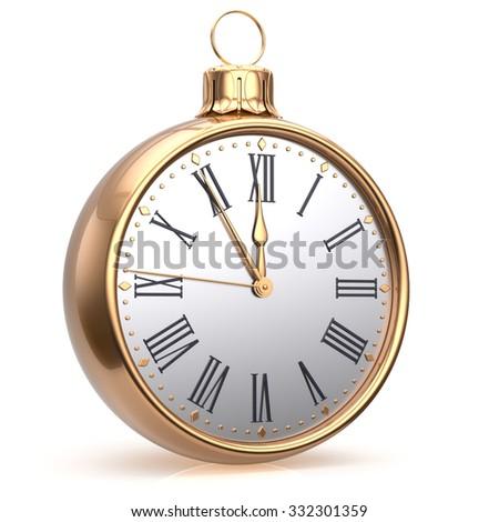 New Years Eve Hour Clock Midnight Stock Illustration 332301359 ...