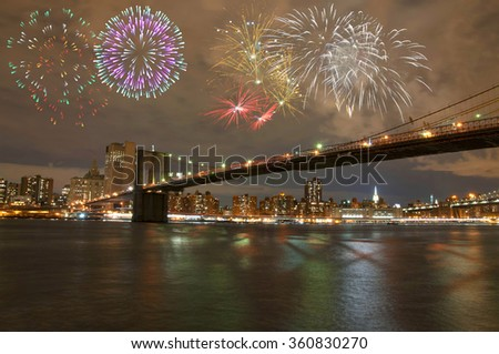 New Year's Eve in New York City - stock photo