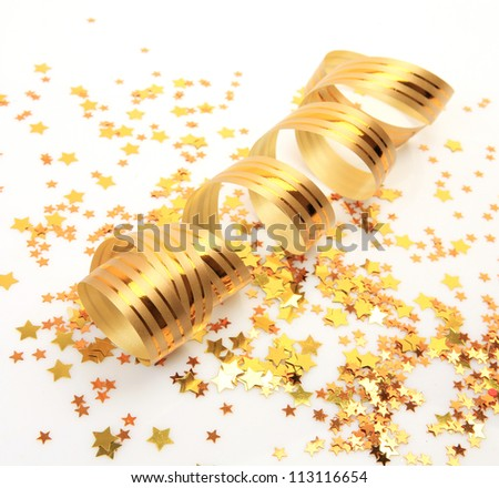 New Year's ornaments - stock photo