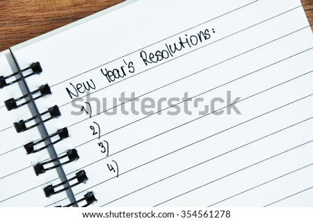 New Year's Resolution concept - stock photo