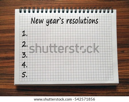 New Years Resolutions Motivation Poster Quote Stock Illustration ...