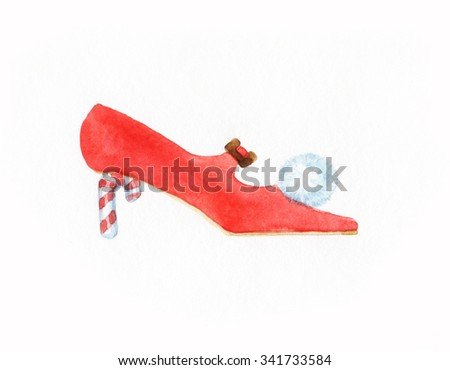 new year shoes - stock photo