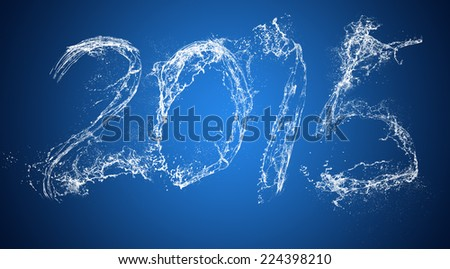new year show via water flash , soft focus - stock photo