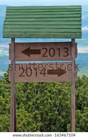 New Year 2014 sign - stock photo