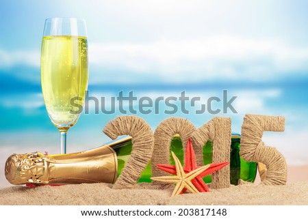 New year 2015 sign - stock photo