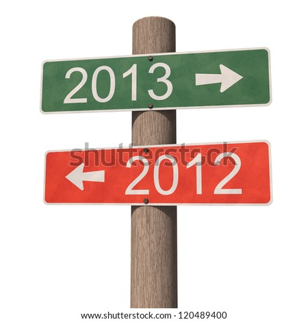 New Year 2013 sign. 3d illustration - stock photo