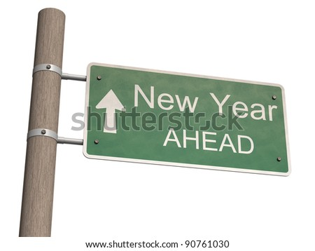 New Year 2012 sign. 3d illustration - stock photo