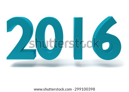 New Year sign isolated on white background - stock photo