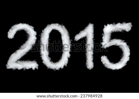 New Year 2015, smoke style digits - stock photo