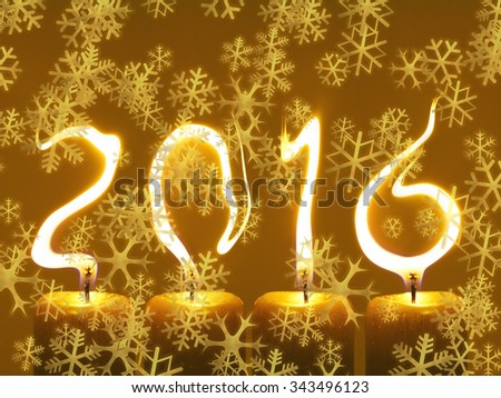 New year 2016 - snowflakes