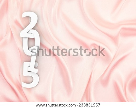New year 2015 text  on pink background