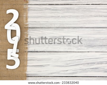New year 2015 text  on wood background - stock photo