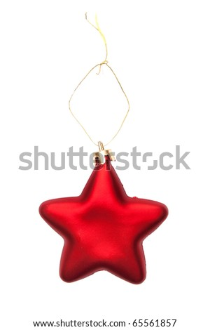 new year, toy isolated on white - stock photo
