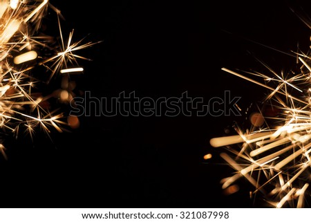 New Year winter holiday background with copyspace for text - stock photo