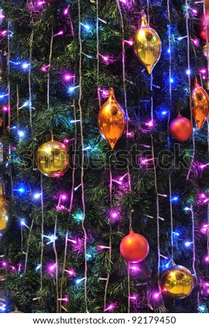 New Year 2012 with christmas balls - stock photo