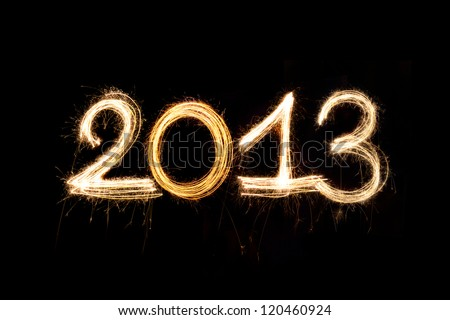 New Year 2013 written with Sparkling figures. - stock photo