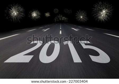 new years eve 2015 - stock photo