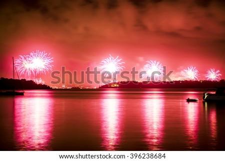 New Years Eve Fireworks Sydney - stock photo