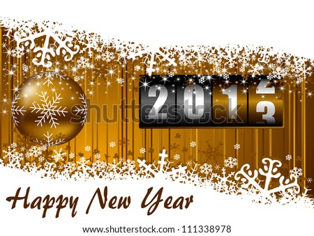 new years illustration with counter - stock photo