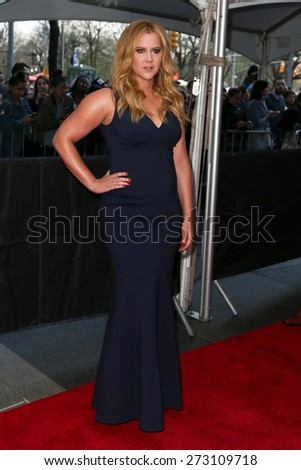 NEW YORK-APR 21: Comedian Amy Schumer attends the 2015 Time 100 Gala at Frederick P. Rose Hall, Jazz at Lincoln Center on April 21, 2015 in New York City. - stock photo
