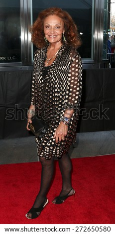 NEW YORK-APR 21: Designer Diane von Furstenberg attends the 2015 Time 100 Gala at Frederick P. Rose Hall, Jazz at Lincoln Center on April 21, 2015 in New York City. - stock photo
