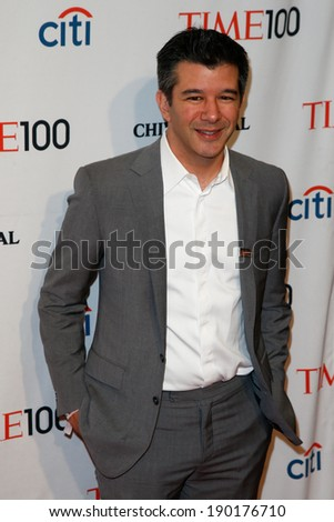 NEW YORK-APR 29: Entrepreneur Travis Kalanick attends the Time 100 Gala for the Most Influential People in the World at the Frederick P. Rose Hall at Lincoln Center on April 29, 2014 in New York City. - stock photo